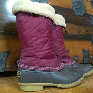L.L. Bean Purple Quilted Boots